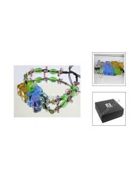 Chinese Ancient Method Colored Glaze Bracelet---Dragon