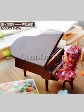 Delicate Customizable Piano Musical Box
