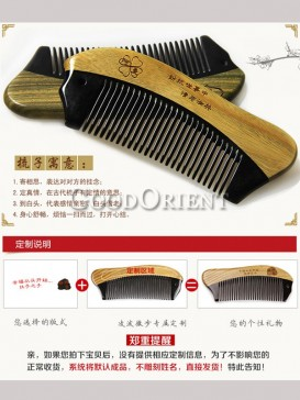 Fashionable Double Color Customizable Comb