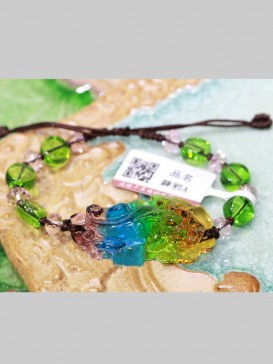 Chinese Ancient Method Colored Glaze Bracelet---Pixiu