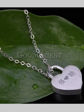 Chic Customizable Lock Style Necklace