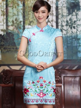 Original Design Embroidery Floral Cheongsam