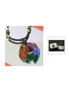 Chinese Ancient Method Colored Glaze Necklace---Phoenix