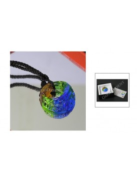 Chinese Ancient Method Colored Glaze Necklace---Magic Ring