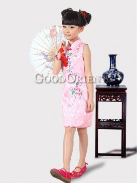 Lovely Embroidery Floral Girl's Dress