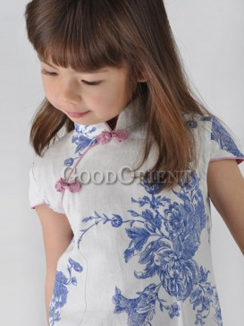 Delicate Blue Peony Girl's Dress