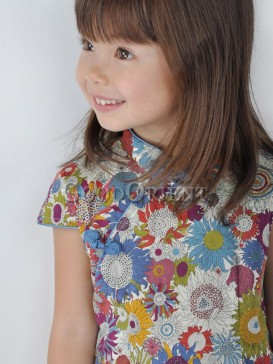 Colourful Sunflower Design Girl's Dress