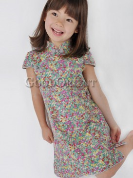 Mysterious Floral Design Girl's Dress