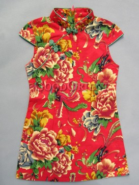 Enthusiastic Floral Design Girl's Dress