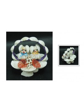 Sea Shell Decoration---Puppy Couple
