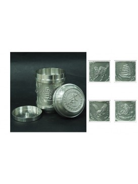 Classical China Pewter Tea Caddy