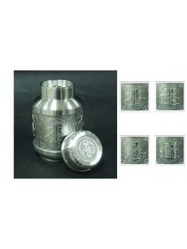 Beautiful Blessing Pewter Tea Caddy