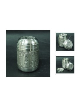 One Hundred Chinese SHU Pewter Tea Caddy