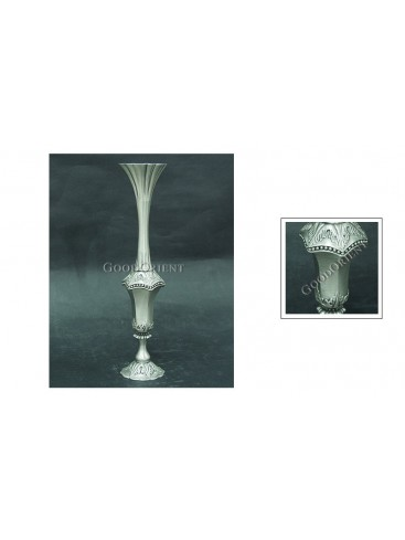 Classical Long Neck Pewter Vase