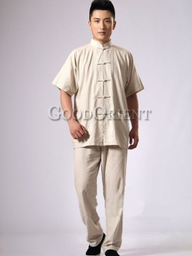 Fashionable Short Sleeves Chinese Kungfu Suit