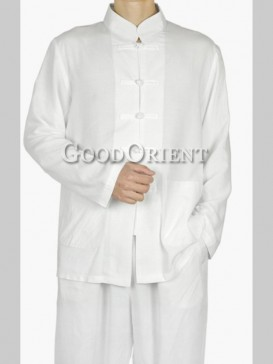Classical White Chinese Kungfu Suit