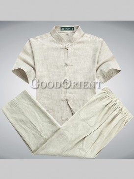 Handsome Short Sleeves Chinese Kungfu Suit