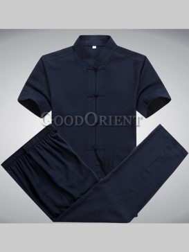 Chinese Cotton&Linen Kungfu Matching Suit