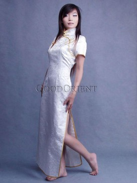 Peaceful White Cheongsam