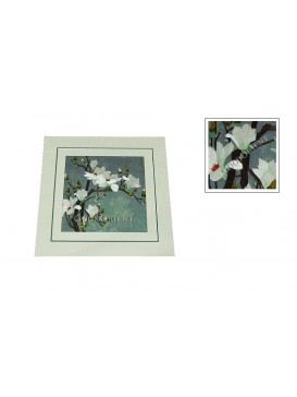 Chinese White Yulan Flower Embroidery