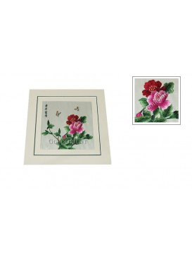 Peony and Butterfly Embroidery