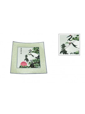 Pine Tree and Cranes Embroidery