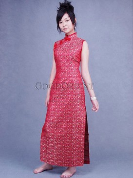 Chinese Red Country Style Cheongsam
