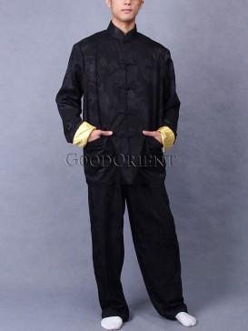 Black Dragon Silk Suit