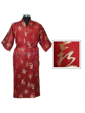 Chinese Calligraphy Series Robe---Red