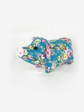 Blessing Piggy Patchwork---Pink + Red