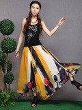 Colourful Printed Floral Chiffon Skirt