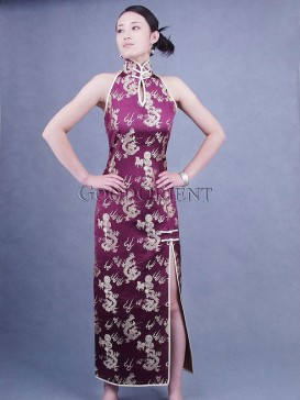 Purple Dragon Chinese Cheongsam
