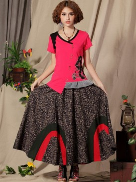 Ethnic Small Floral Women Skirt