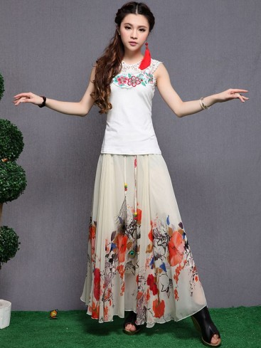 Special Pleated Style Women Skirt