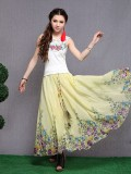 Classical Small Floral Chiffon Skirt