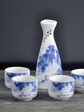 Japanese Sake Sets--Bright Moon