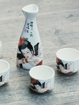 Japanese Sake Sets--Maid