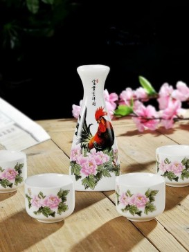 Japanese Sake Sets--Chicken