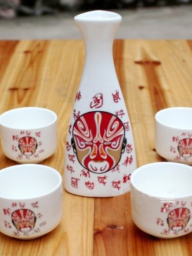 Japanese Sake Sets--Peking Opera