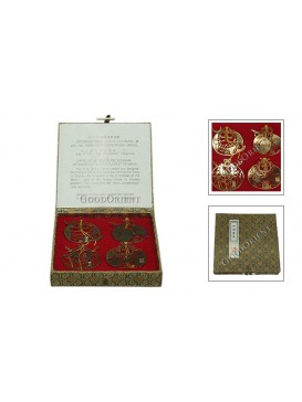 Gold Plating Character of Water Margin Bookmark