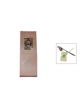 Peking Opera Mask Bookmark---Pang Tong