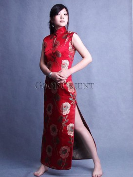 Chinese Red Water Lily Dress