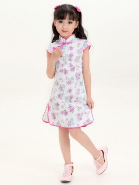 Fabulous Flower Pattern Girl's Dress