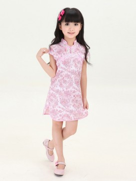 Charming Floral Pattern Girl's Dress