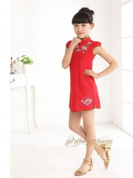 Chic Embroidery Floral Girl's Dress