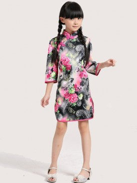 Fascinating Floral Style Girl's Dress