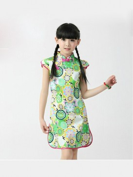 Bright Flower Pattern Girl's Dress