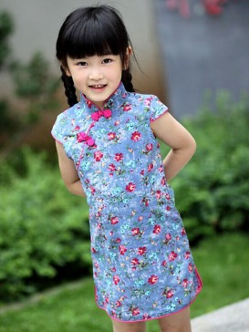 Dreamy Floral Pattern Girl's Dress