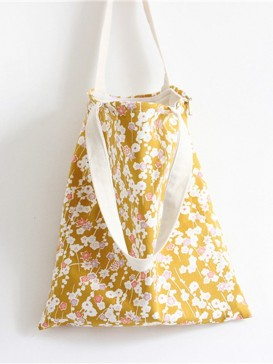 Simple Plum Blossom Style Cloth Bag