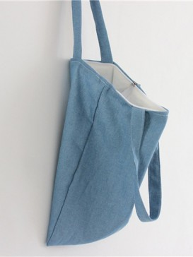 Classical Manual Blue Denim Bag